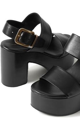 Dries Van Noten Leather Platform Sandals