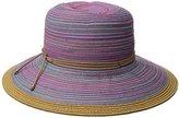 San Diego Hat Company Women's 4-Inch Mixed Braid Sun Brim Hat