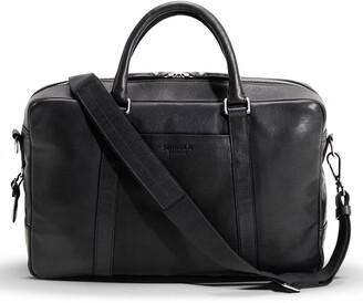 Shinola Signature Leather Slim Briefcase