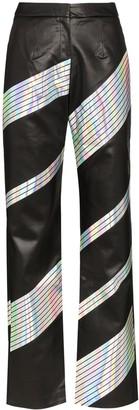 MATÉRIEL holographic stripe trousers