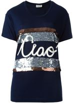 Lanvin ciao appliqué T-shirt - women - Viscose/PVC/glass - S