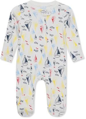 M&Co Boat print sleepsuit (Tiny baby-18mths)