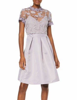 Little Mistress Women's Paige Embroidered Skater Dress Party