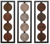 Textured Earth Tone Assorted Wall Panels (Set of 3)