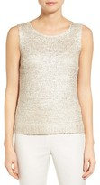 Nic+Zoe Women's Day Dreamer Ribbon Yarn Knit Shell