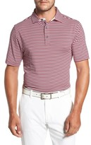 Bobby Jones Men's Xh20 Matzah Stripe Stretch Golf Polo