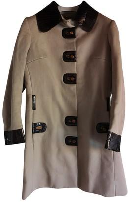 Gucci Beige Wool Coat for Women Vintage