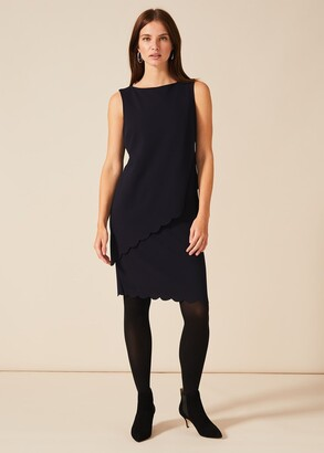 Phase Eight Reanna Scallop Overlay Dress