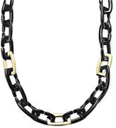 Charter Club Necklace, Gold-Tone Long Chain Black Link Necklace