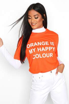 boohoo My Happy Colour Charity T-Shirt