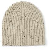 Frank & Oak Donegal Tweed Knit Beanie in Bone