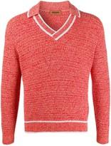 Missoni open-collar V-neck jumper