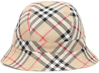 BURBERRY KIDS Vintage Check cotton bucket hat