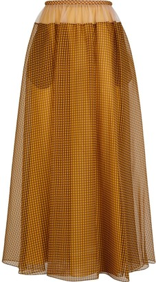 Fendi Vichy Pattern Maxi Skirt