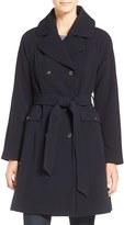 Eliza J Women's Water Repellent Gabardine Trench Coat