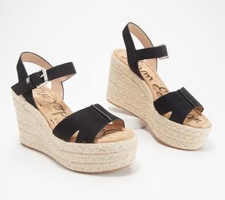 Sam Edelman Leather Wedge Sandals - Maura