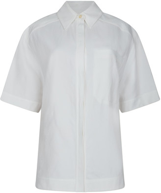 LOULOU STUDIO Moheli Short Sleeve Button-Up Shirt