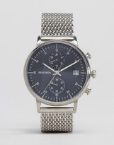 Sekonda Chronograph Mesh Watch In Silver