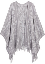 Alexander McQueen Wool-jacquard Scarf - Gray