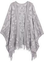 Alexander McQueen Wool-jacquard Wrap - Gray