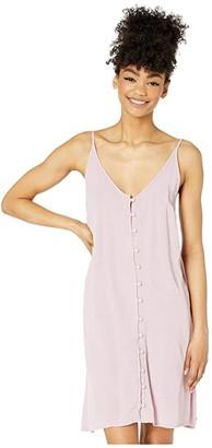 Roxy Siren Treasure Strappy Buttoned Dress (Mauve Shadows) Women's Clothing