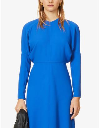 Victoria Beckham Dolman-sleeved round-neck stretch-crepe midi dress