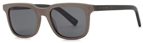 Ermenegildo Zegna Matte Grey Wayfarer-style Sunglasses