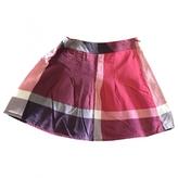 Burberry Purple Cotton Skirt