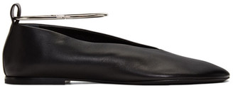 Jil Sander Black Ankle Cuff Ballerina Flats