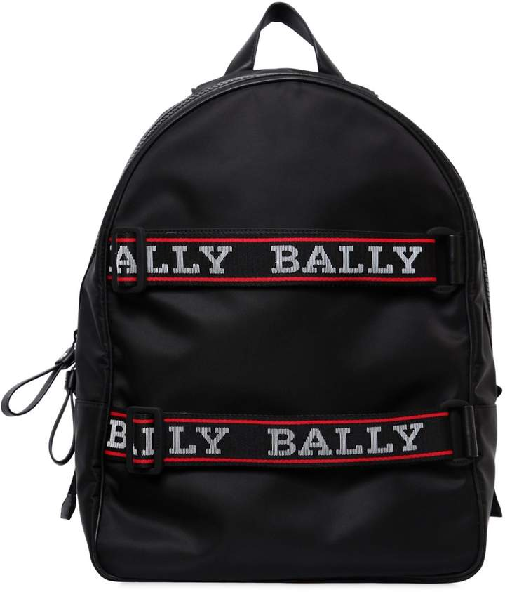 Bally Nylon Backpack W/ Logo Straps