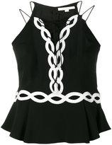 Jonathan Simkhai sleeveless peplum blouse - women - Polyester/Spandex/Elastane/Acetate/Viscose - 4