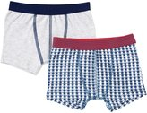 Petit Bateau 2 Pack Boxers (Toddler/Kid) - White/Blue/Grey - 6 Years
