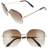 Victoria Beckham Women's Windsor 60Mm Gradient Lens Square Sunglasses - Amber Tortoise