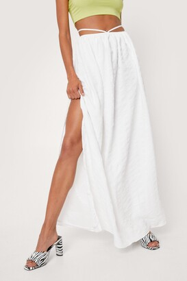 Nasty Gal Womens Strappy Slit Maxi Skirt