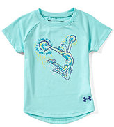 Under Armour Little Girls 2T-6X Cheer Stunt Short-Sleeve Tee