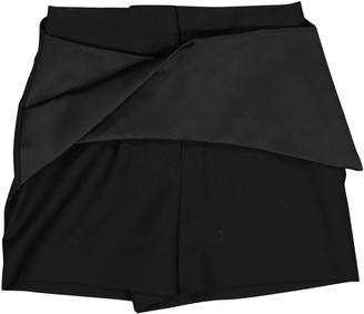 Balenciaga Black Wool Shorts for Women