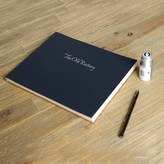 Undercover Recycled Leather Visitors Book