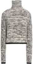 Carven Mélange Chunky-Knit Turtleneck Sweater