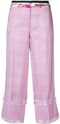 Emilio Pucci plaid cropped trousers
