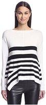 Karen Millen Women's Graphic Stripe Sweater