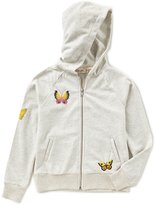 Miss Me Girls Big Girls 7-16 Butterfly Embroidered Hoodie