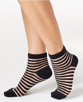 Kate Spade Women's Sheer Stripes Anklet Socks