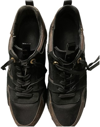Louis Vuitton Run Away Brown Cloth Trainers