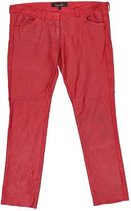 Isabel Marant \N Red Leather Trousers