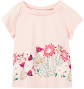 Tea Collection Flor De Cactus Graphic Tee (Baby Girls)