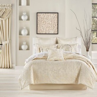 J Queen New York Blossom 4-Piece King Comforter Set in Ivory