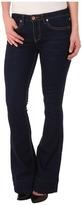 Dollhouse Beckham Five-Pocket Flare Jeans in Dark Blue Wash