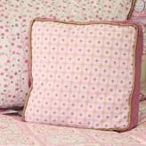 Caden Lane Modern Vintage Girl Square Pillow in Pink