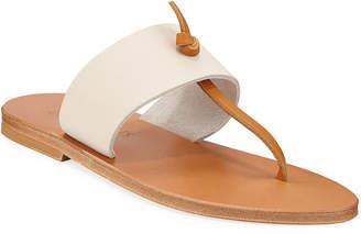 K. Jacques Shambala Flat T-Strap Leather Sandals