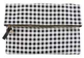 Clare Vivier Fold-Over Leather Clutch